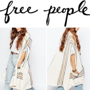 NEW! FP Cotton/Linen Serape Striped Kimono Vest